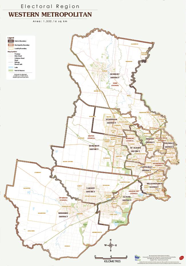 Map of the Western Metropolitan Region